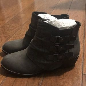 Gray Maurices booties